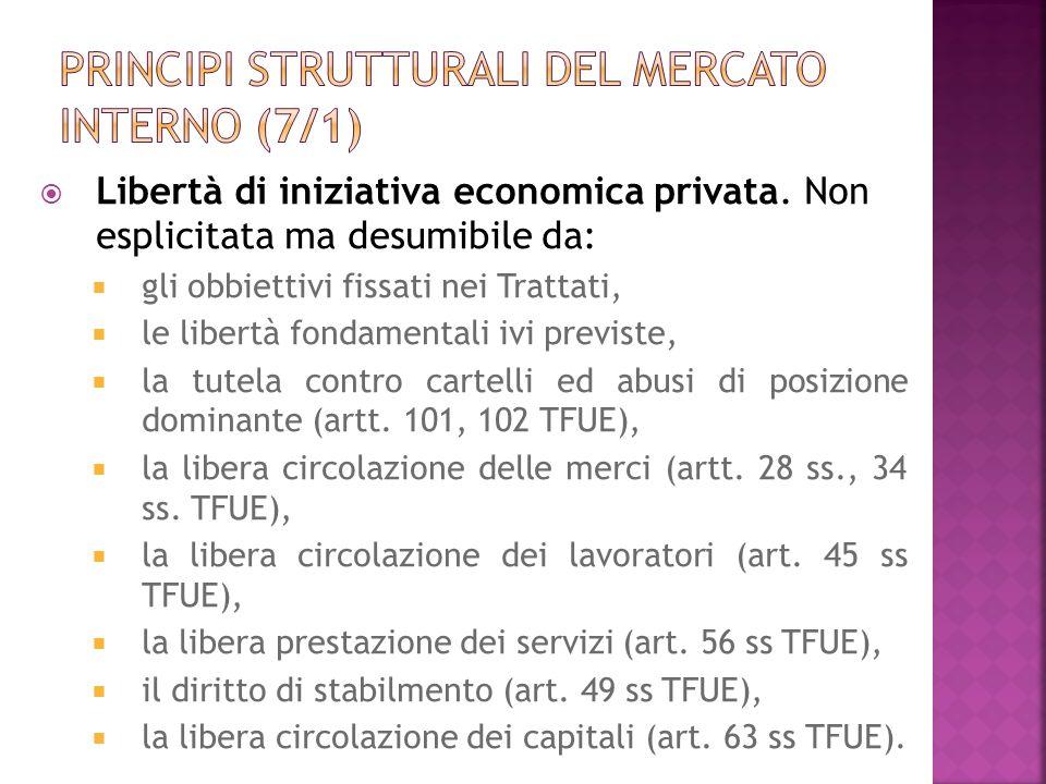 Principi strutturali del mercato interno (7/1)