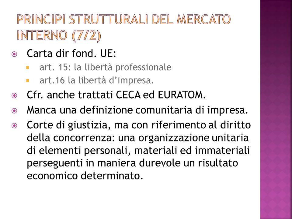 Principi strutturali del mercato interno (7/2)