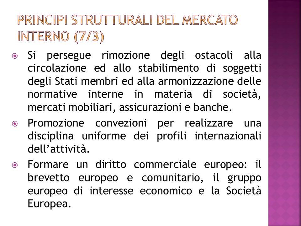 Principi strutturali del mercato interno (7/3)