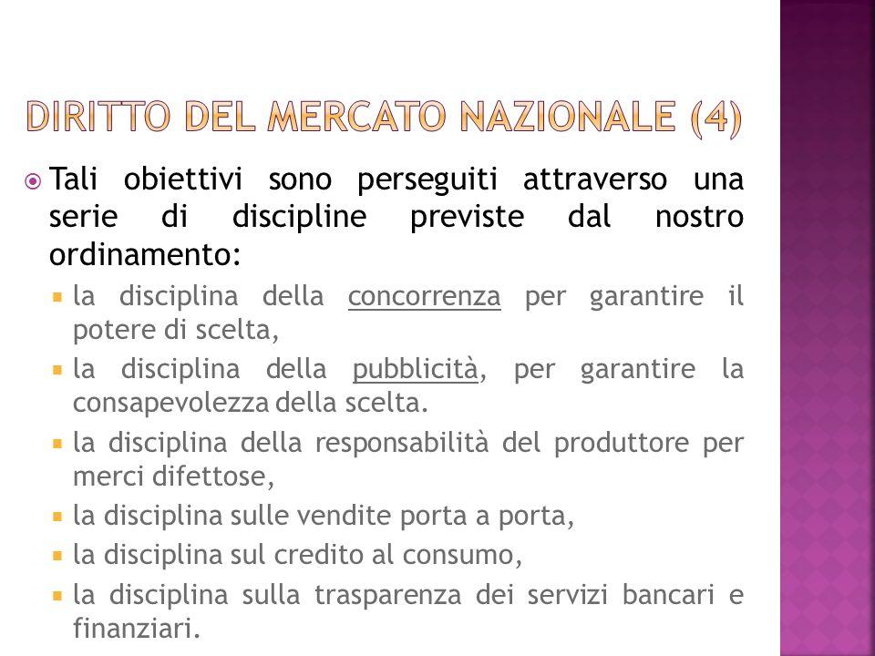 Diritto del mercato nazionale (4)