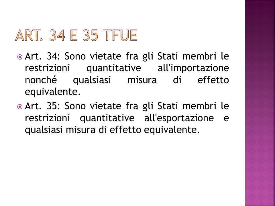Art. 34 e 35 tfue