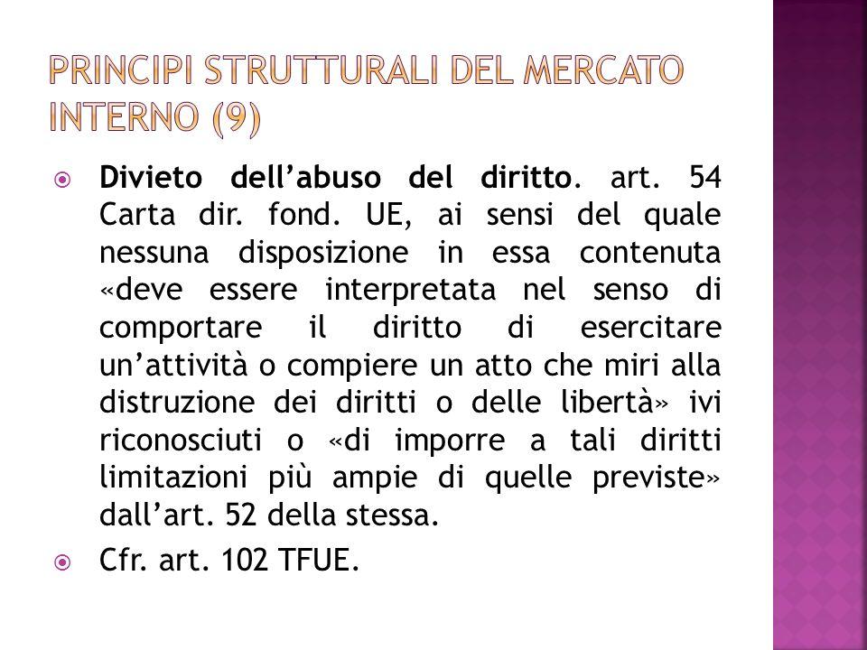 Principi strutturali del mercato interno (9)