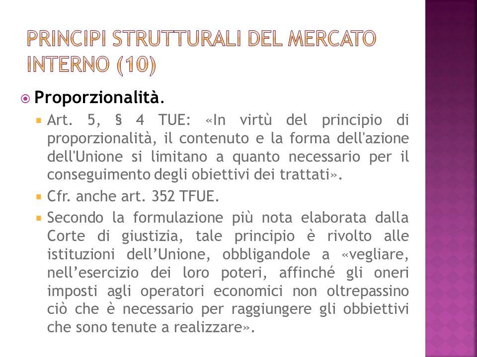 Principi strutturali del mercato interno (10)