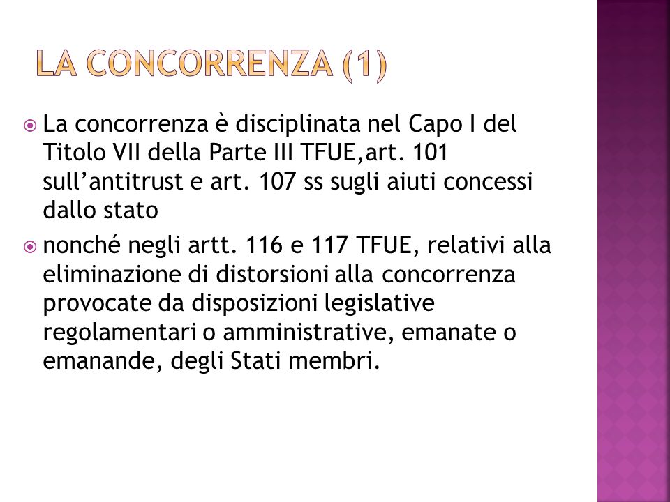 La concorrenza (1)