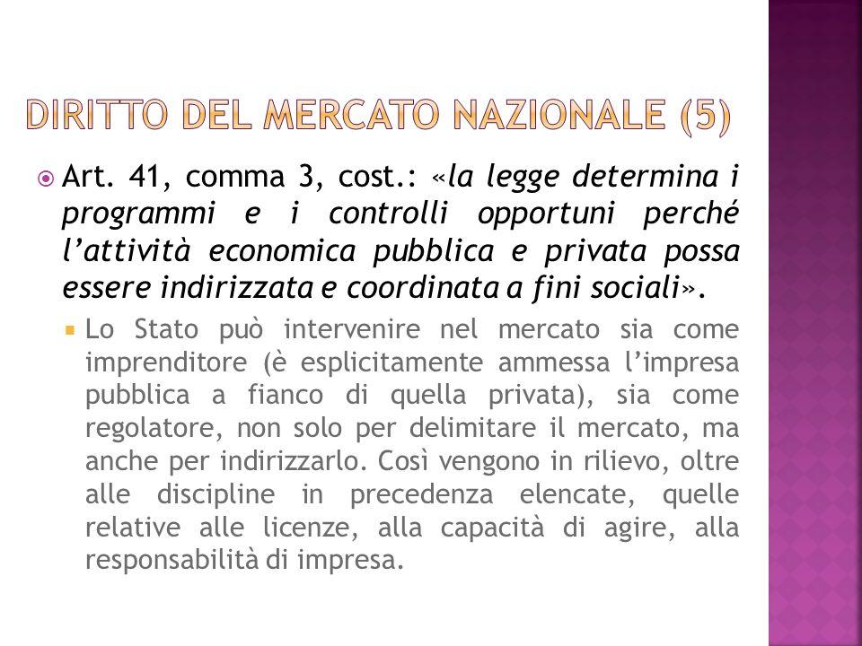 Diritto del mercato nazionale (5)