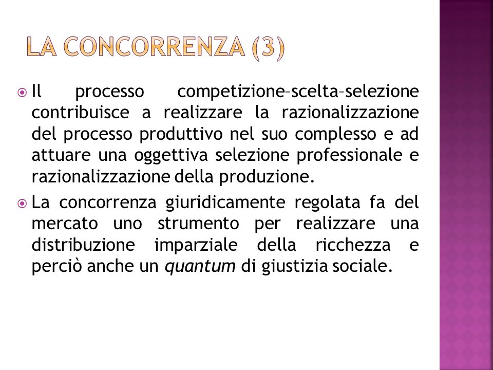 La concorrenza (3)