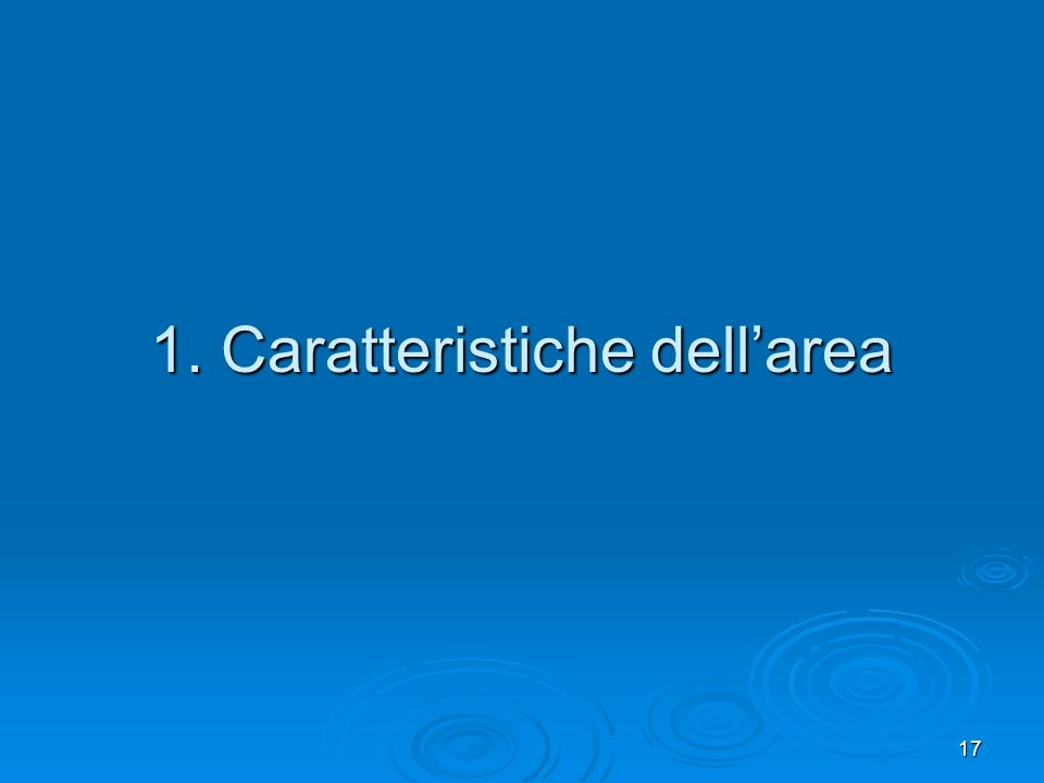 1. Caratteristiche dell'area