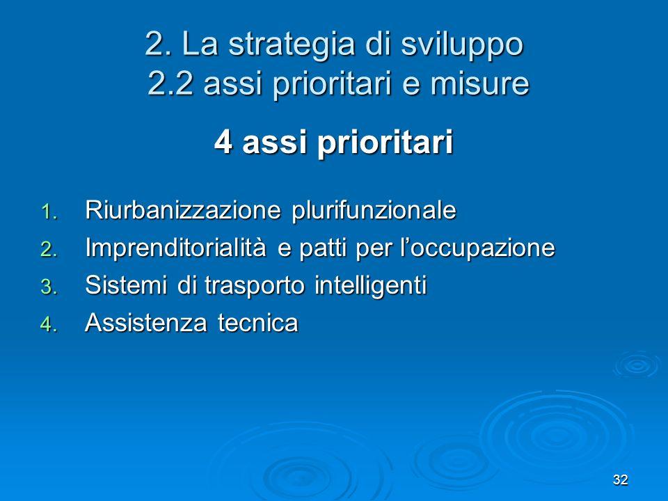 2. La strategia di sviluppo 2.2 assi prioritari e misure