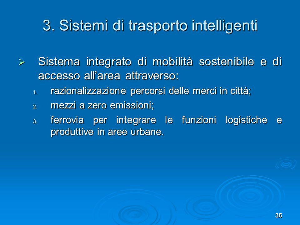 3. Sistemi di trasporto intelligenti