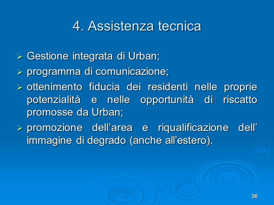 4. Assistenza tecnica Gestione integrata di Urban;