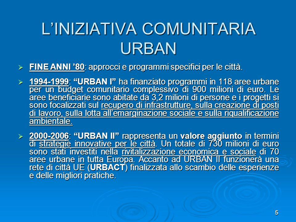 L'INIZIATIVA COMUNITARIA URBAN