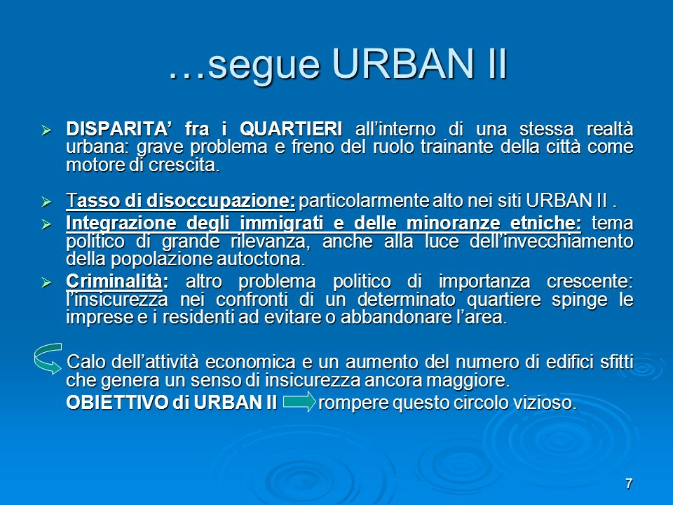 …segue URBAN II