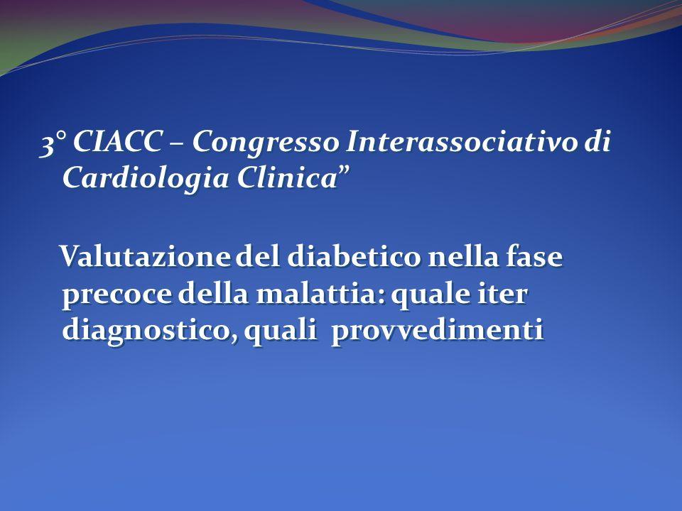 3° CIACC – Congresso Interassociativo di Cardiologia Clinica