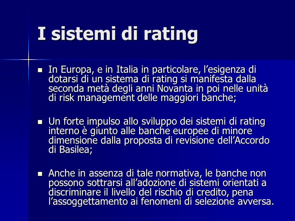 I sistemi di rating