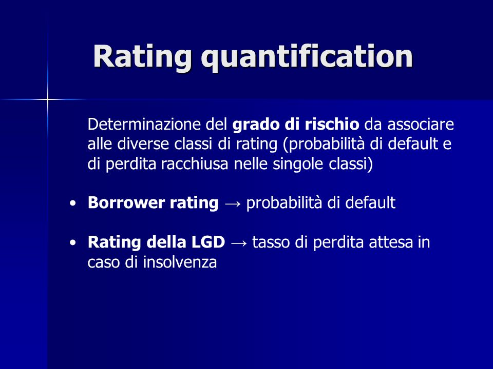 Rating quantification