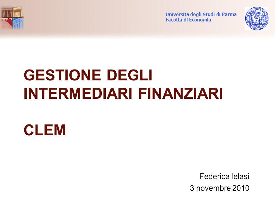 Gestione degli intermediari finanziari CLEM