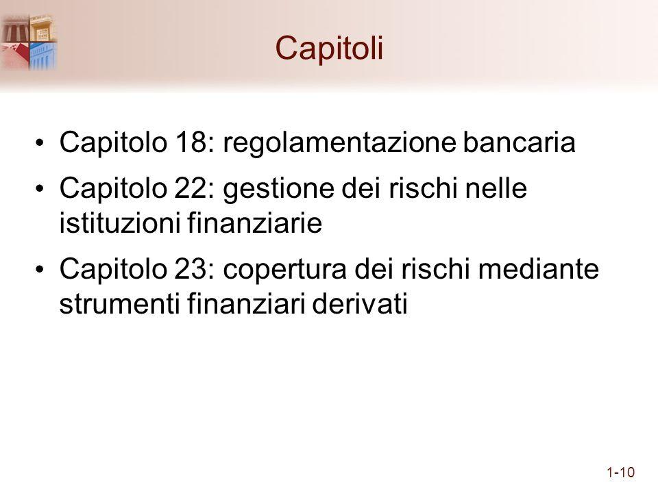 Capitoli Capitolo 18: regolamentazione bancaria