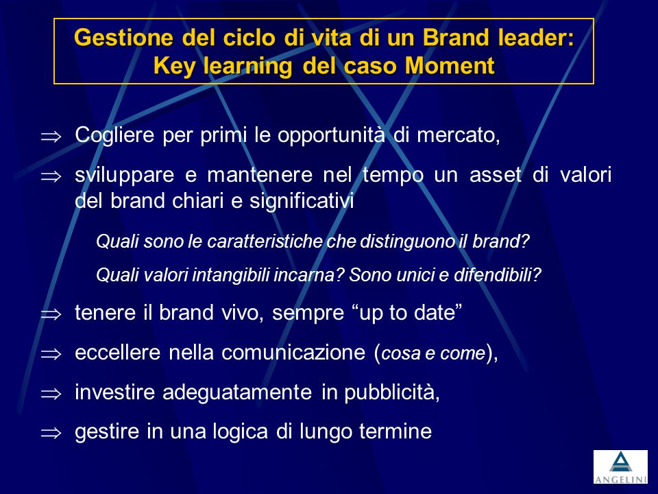 Gestione del ciclo di vita di un Brand leader: