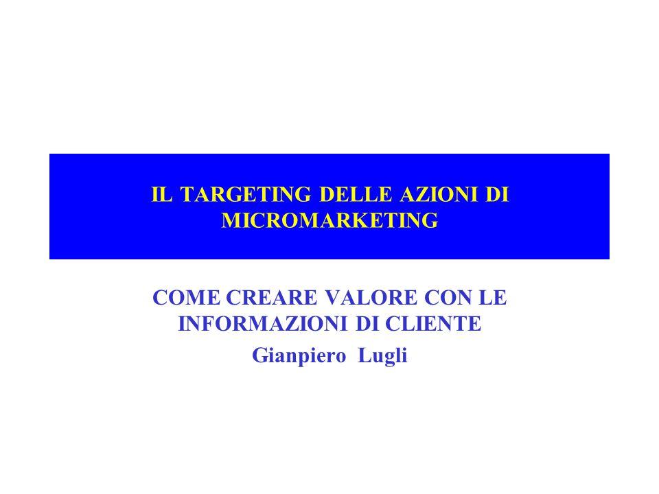 IL TARGETING DELLE AZIONI DI MICROMARKETING