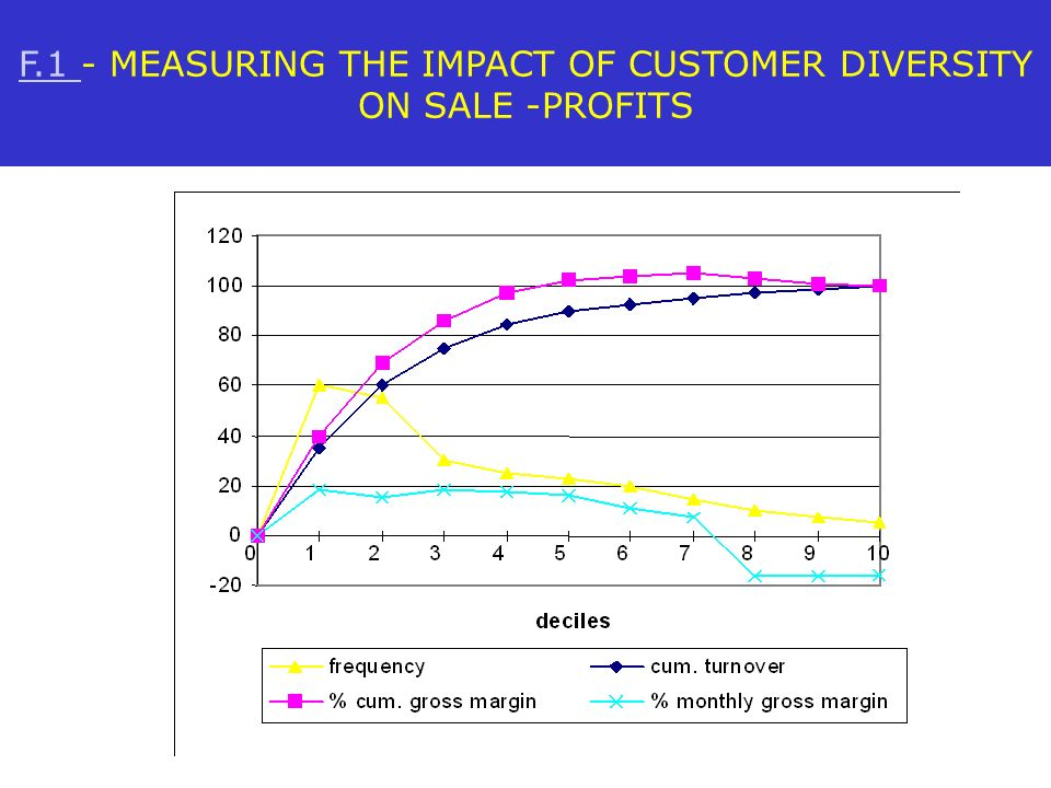 F.1 - MEASURING THE IMPACT OF CUSTOMER DIVERSITY ON SALE -PROFITS