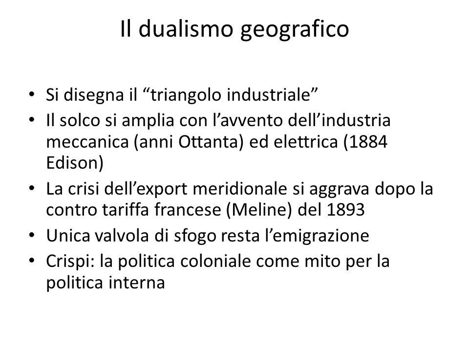 Il dualismo geografico