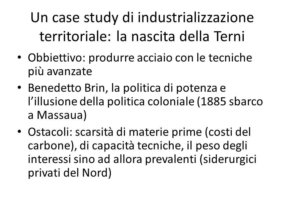 Un case study di industrializzazione territoriale: la nascita della Terni
