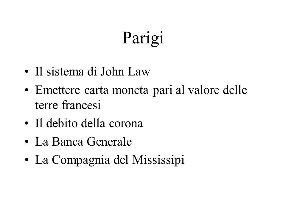 Parigi Il sistema di John Law
