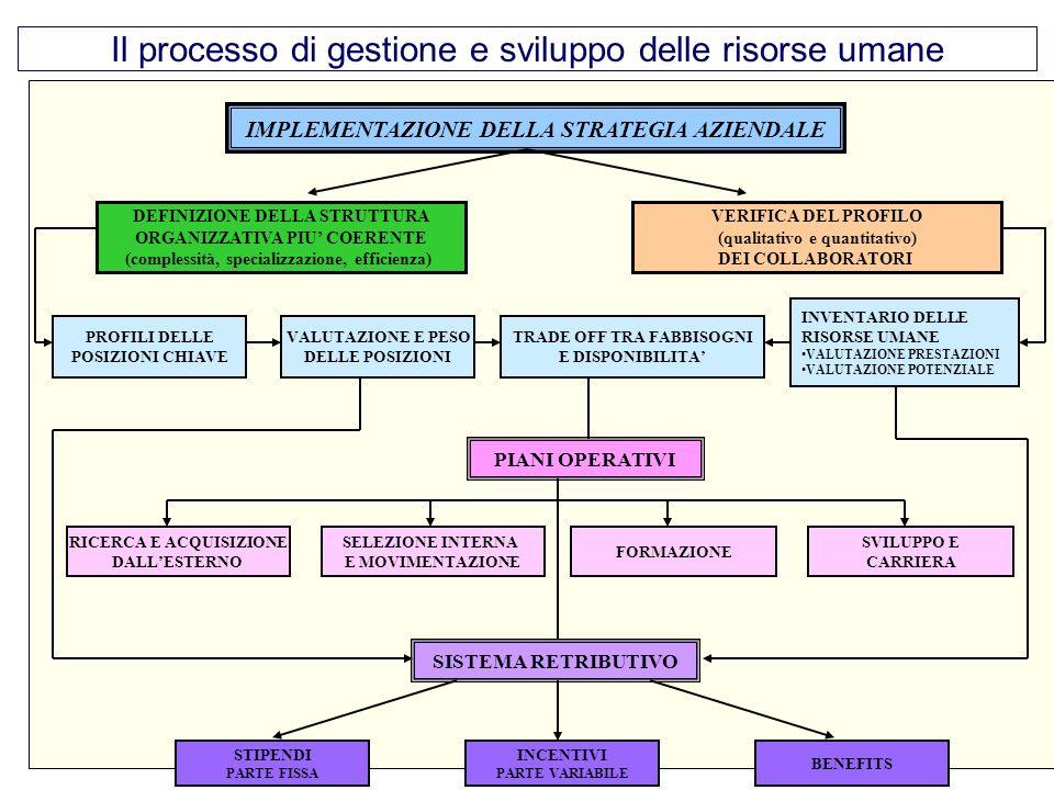 Il processo di gestione e sviluppo delle risorse umane