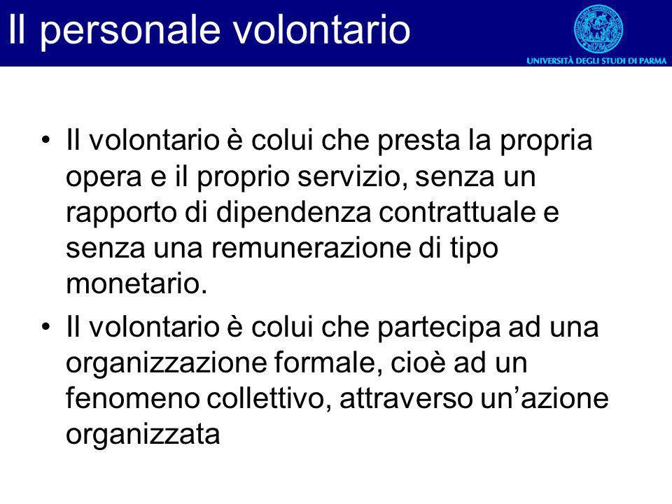 Il personale volontario