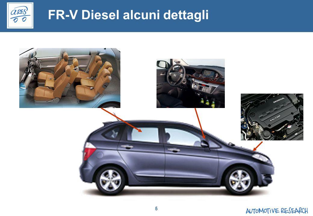 FR-V Diesel alcuni dettagli