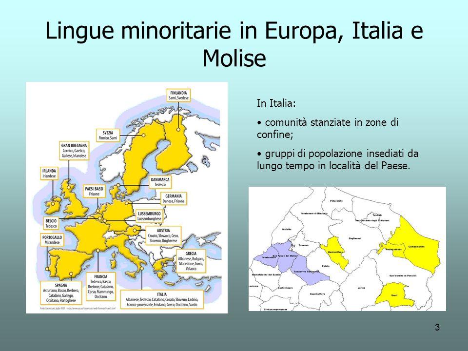 Lingue minoritarie in Europa, Italia e Molise