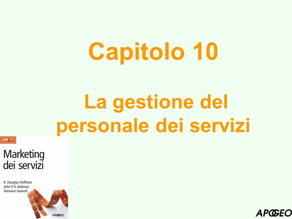 Capitolo 10 La gestione del personale dei servizi