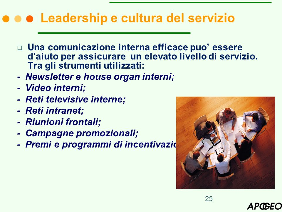 Leadership e cultura del servizio