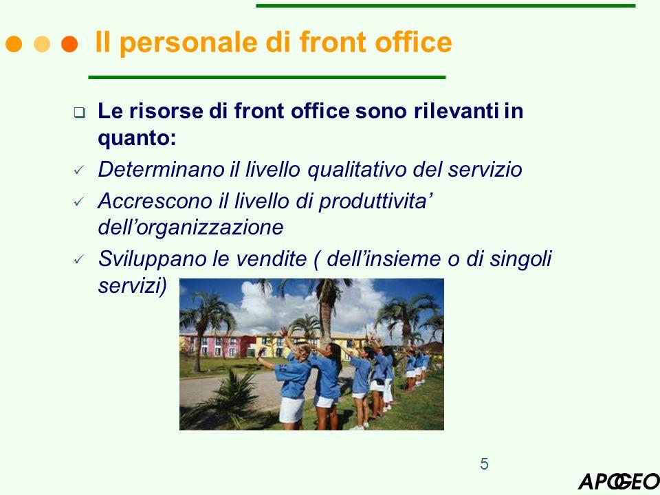 Il personale di front office