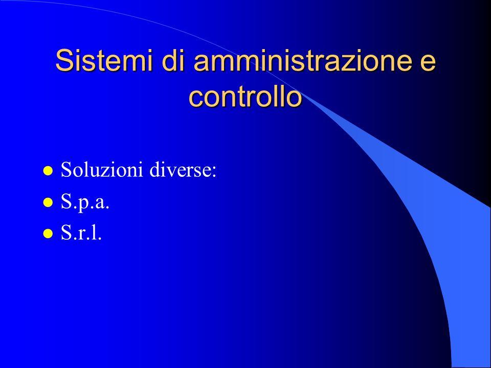 Sistemi di amministrazione e controllo