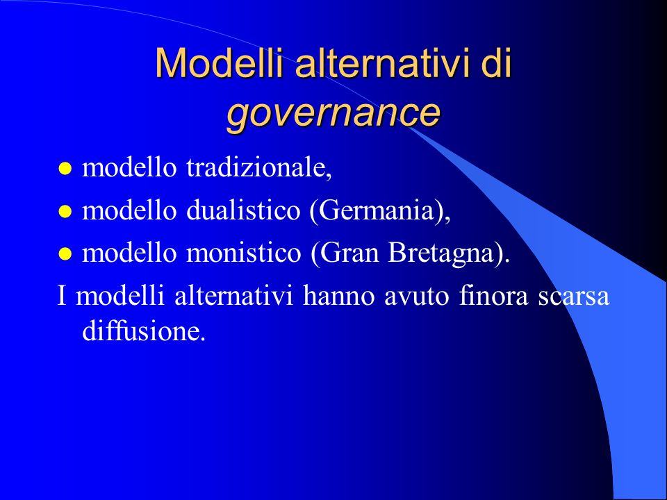 Modelli alternativi di governance