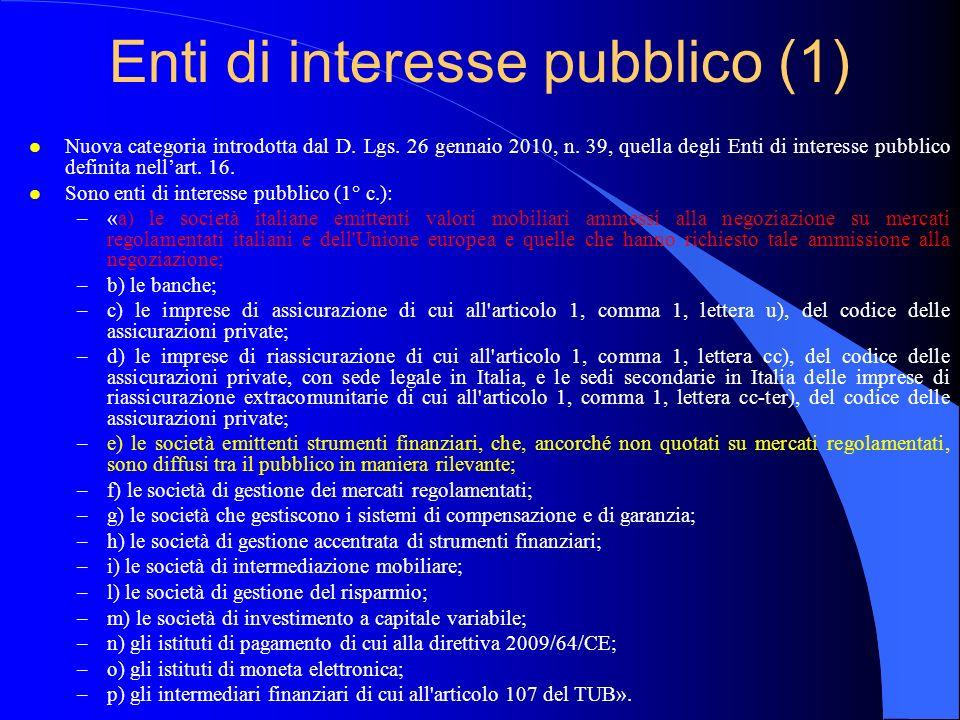 Enti di interesse pubblico (1)