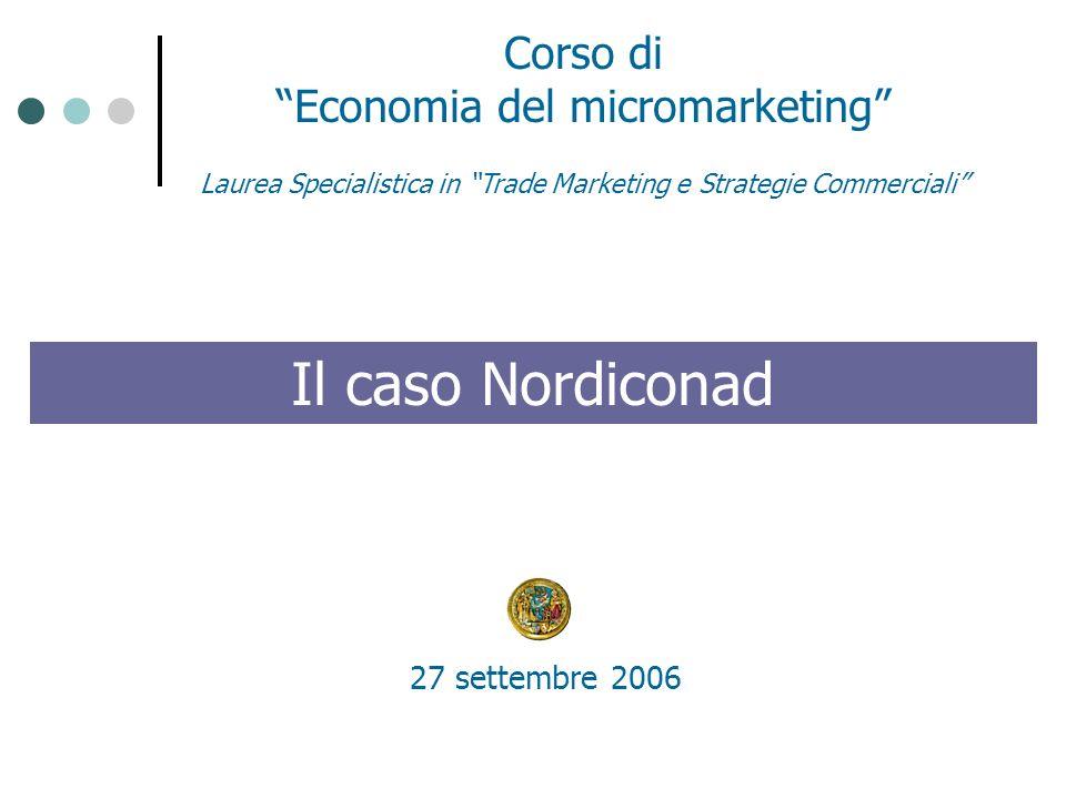 Il caso Nordiconad Corso di Economia del micromarketing