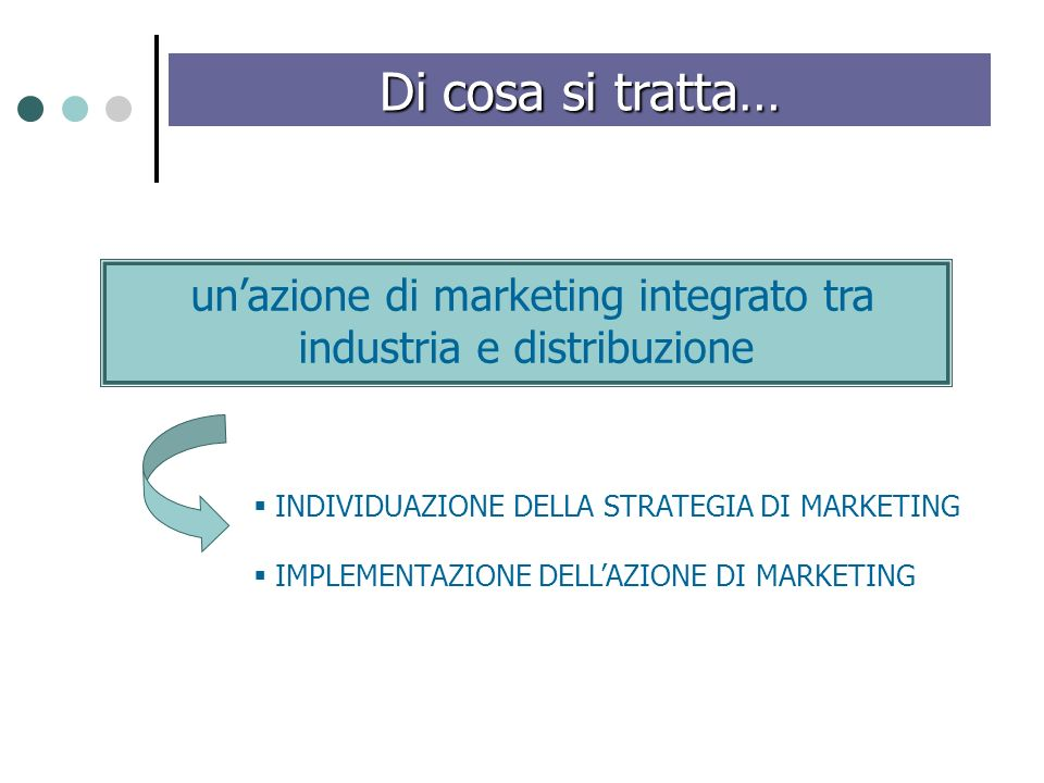 un'azione di marketing integrato tra industria e distribuzione