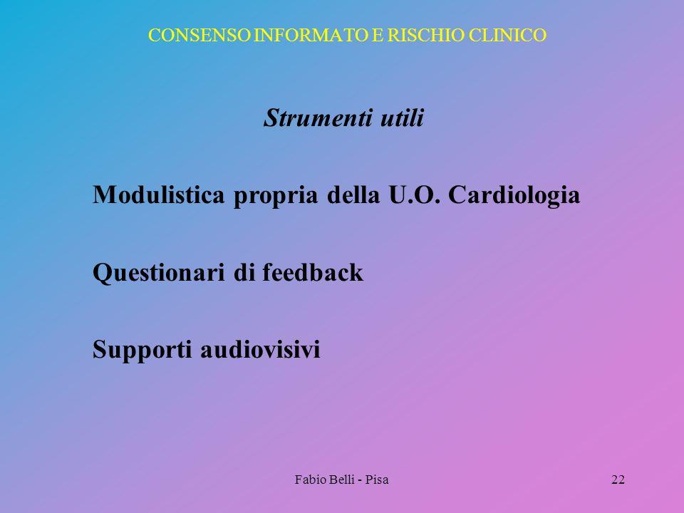 CONSENSO INFORMATO E RISCHIO CLINICO