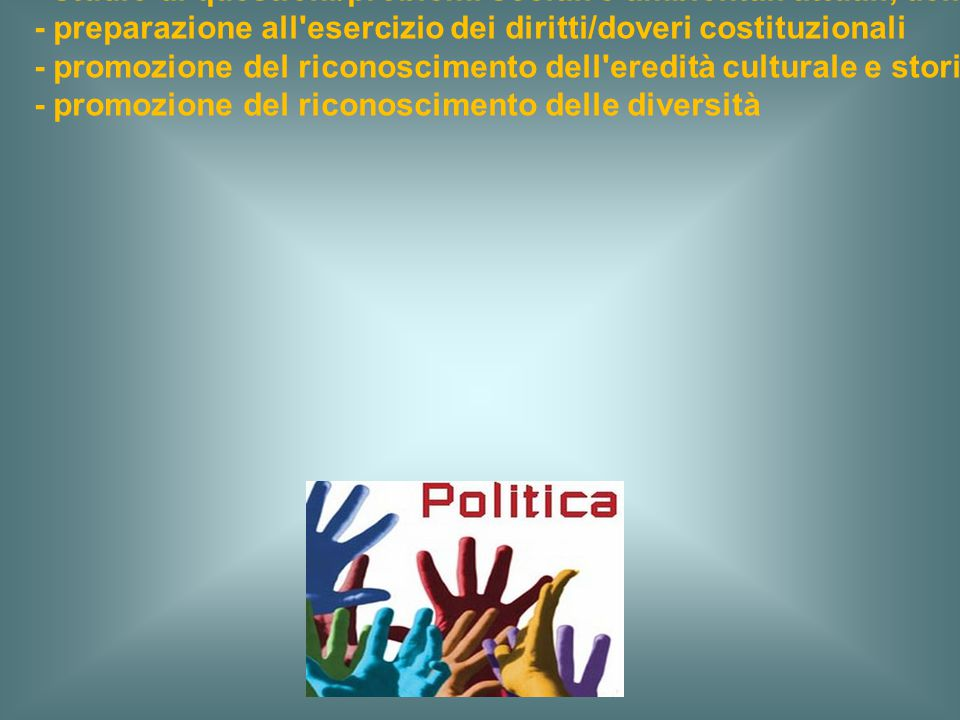 a) una cultura politica