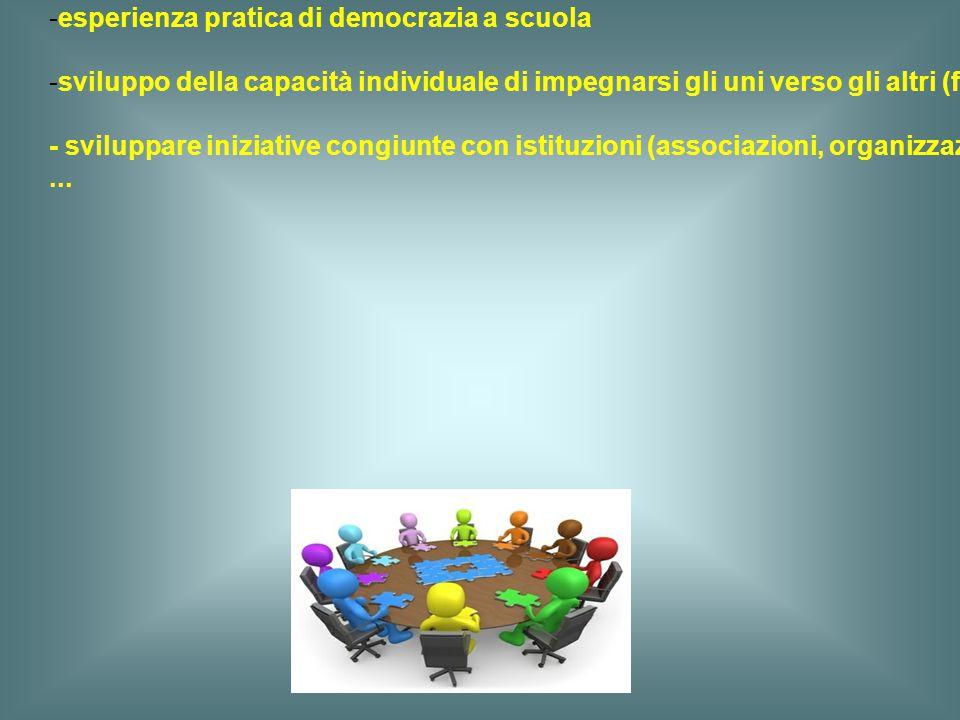 c) una partecipazione attiva