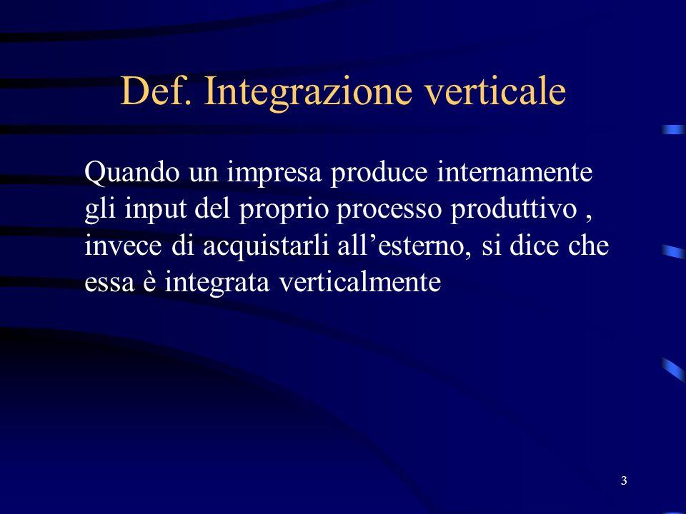 Def. Integrazione verticale