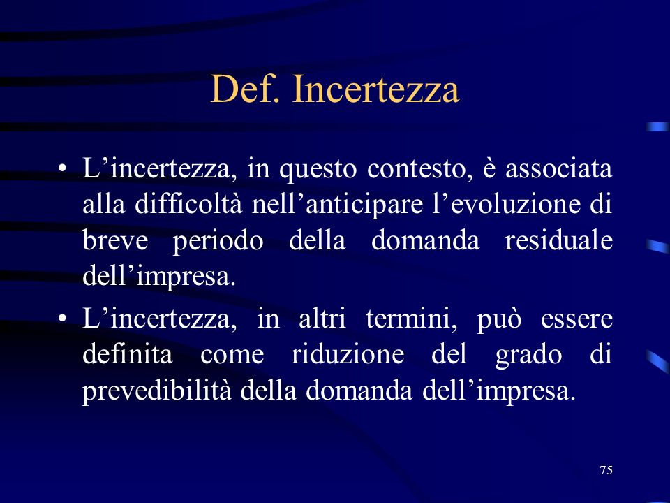 Def. Incertezza