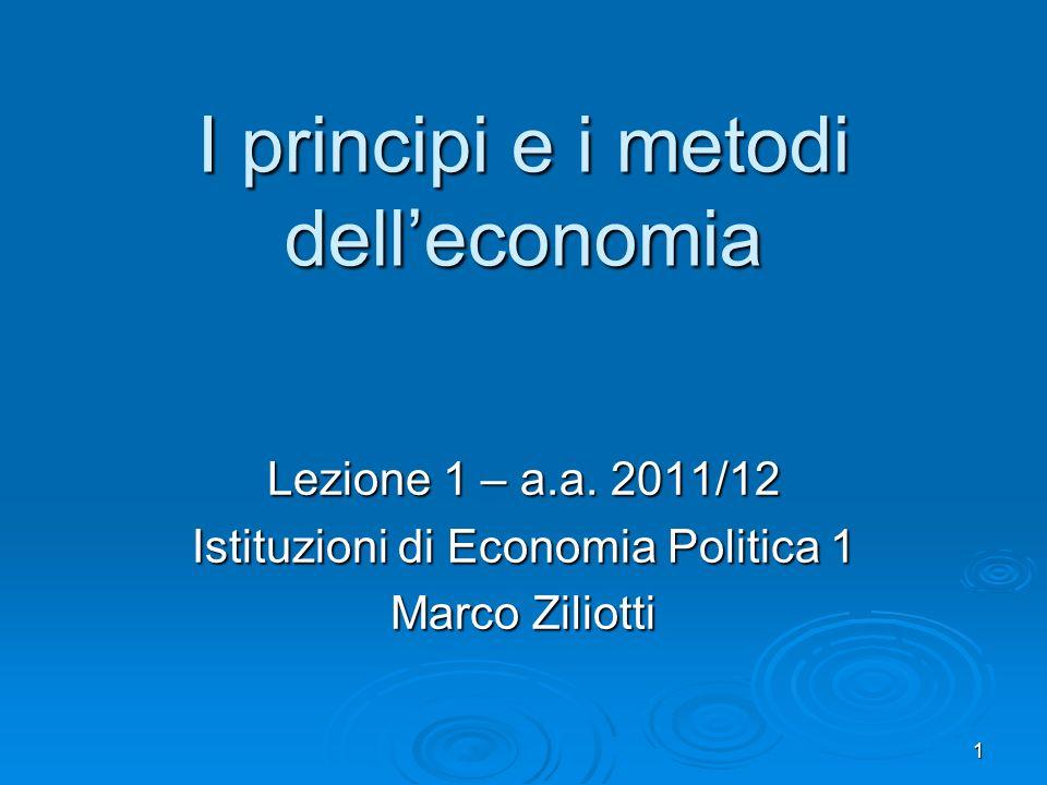 I principi e i metodi dell'economia