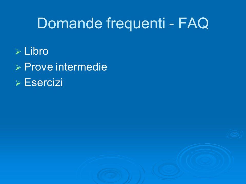 Domande frequenti - FAQ