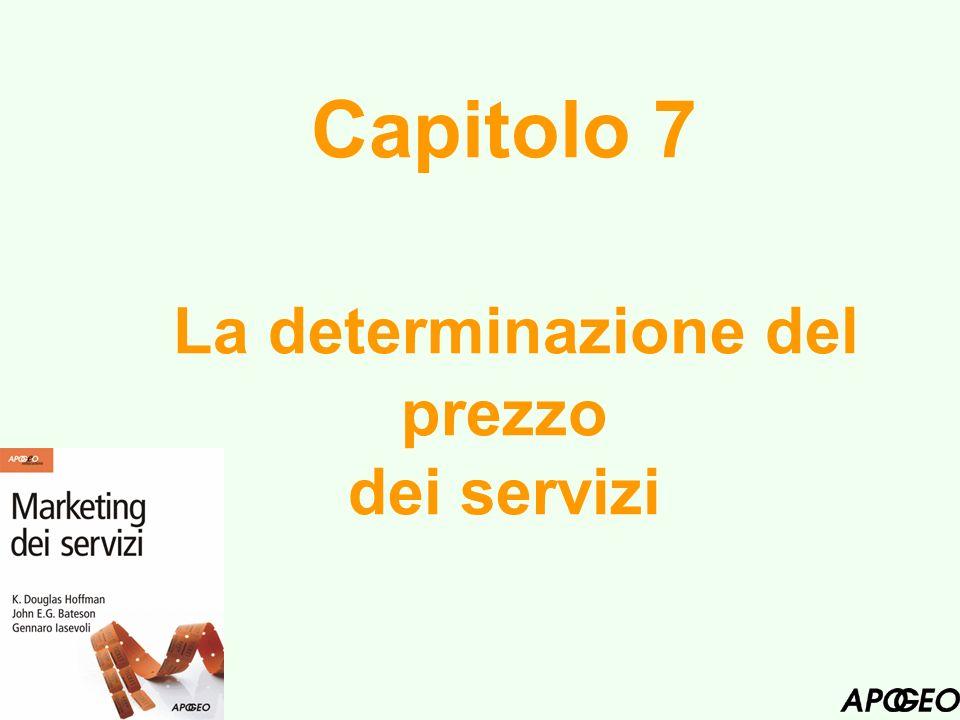 Capitolo 7 La determinazione del prezzo dei servizi