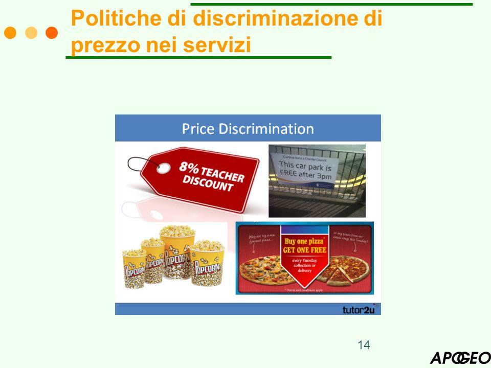 Politiche di discriminazione di prezzo nei servizi