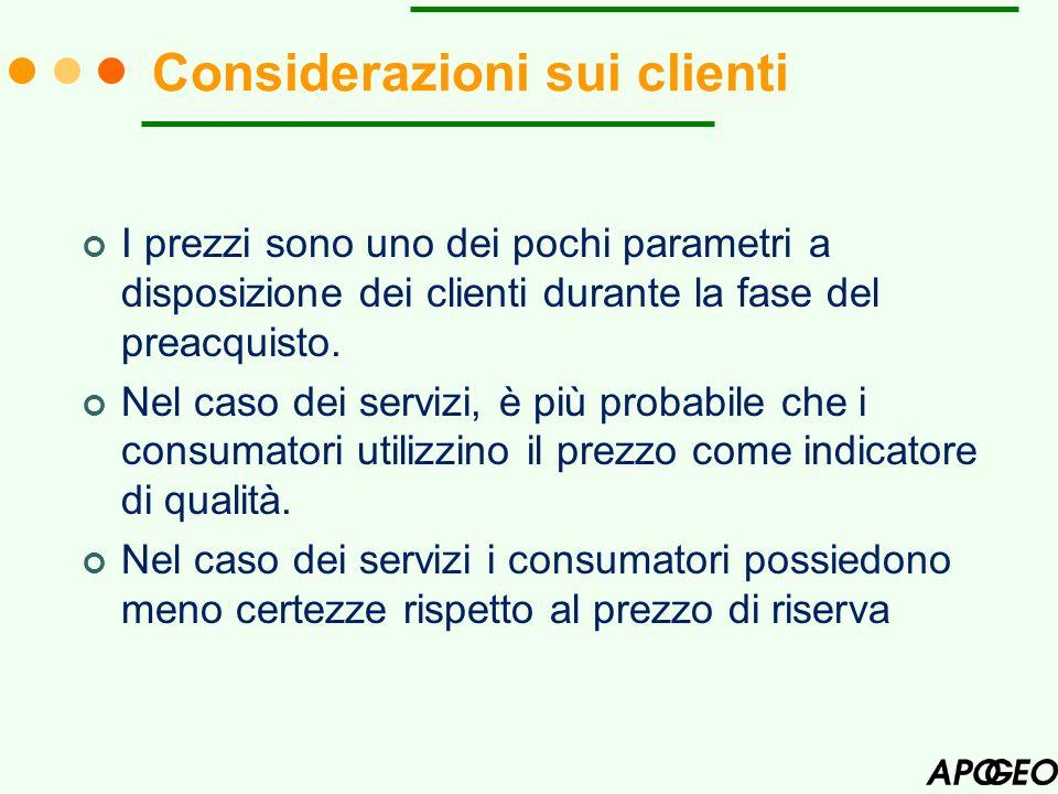 Considerazioni sui clienti