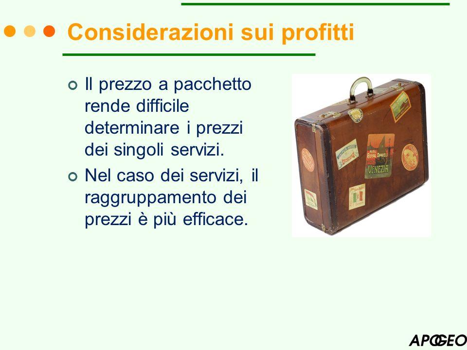 Considerazioni sui profitti
